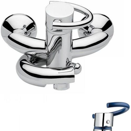 Смеситель для ванны Emmevi Twist синий CBL6601
