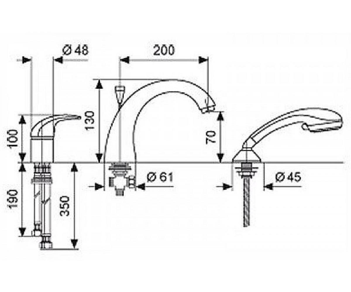 Смеситель для ванны EMMEVI ANUBIS бронза BR70120R