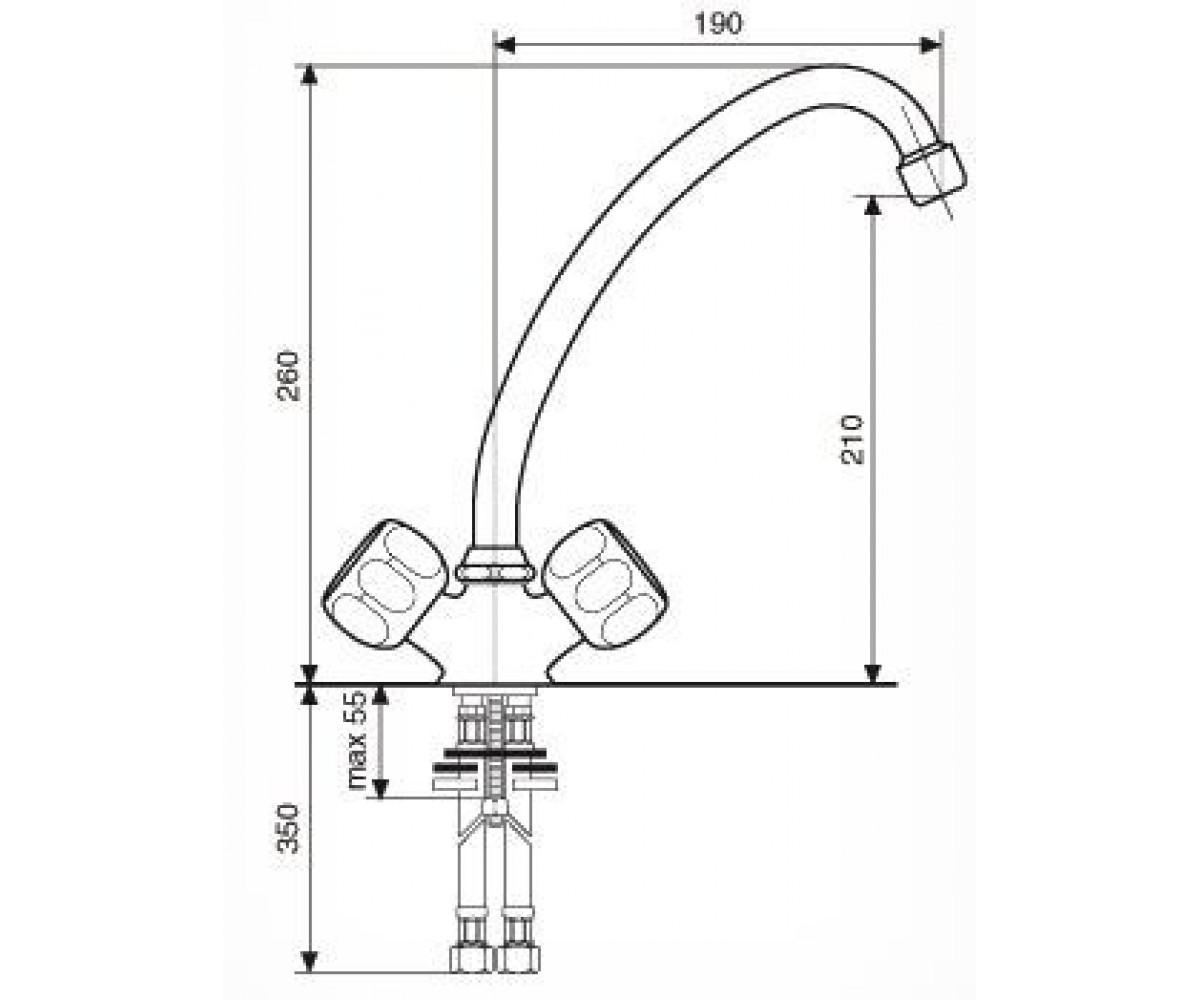 Смеситель для куxни EMMEVI SOLE CR15207