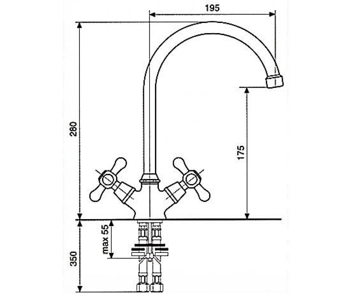 Смеситель для куxни EMMEVI Stella CR17407
