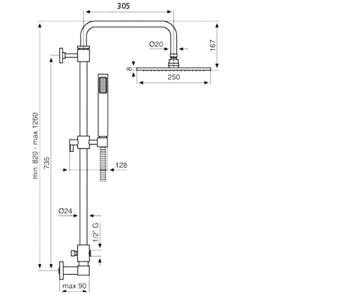 Душевой набор EMMEVI EDEN CR2584 I