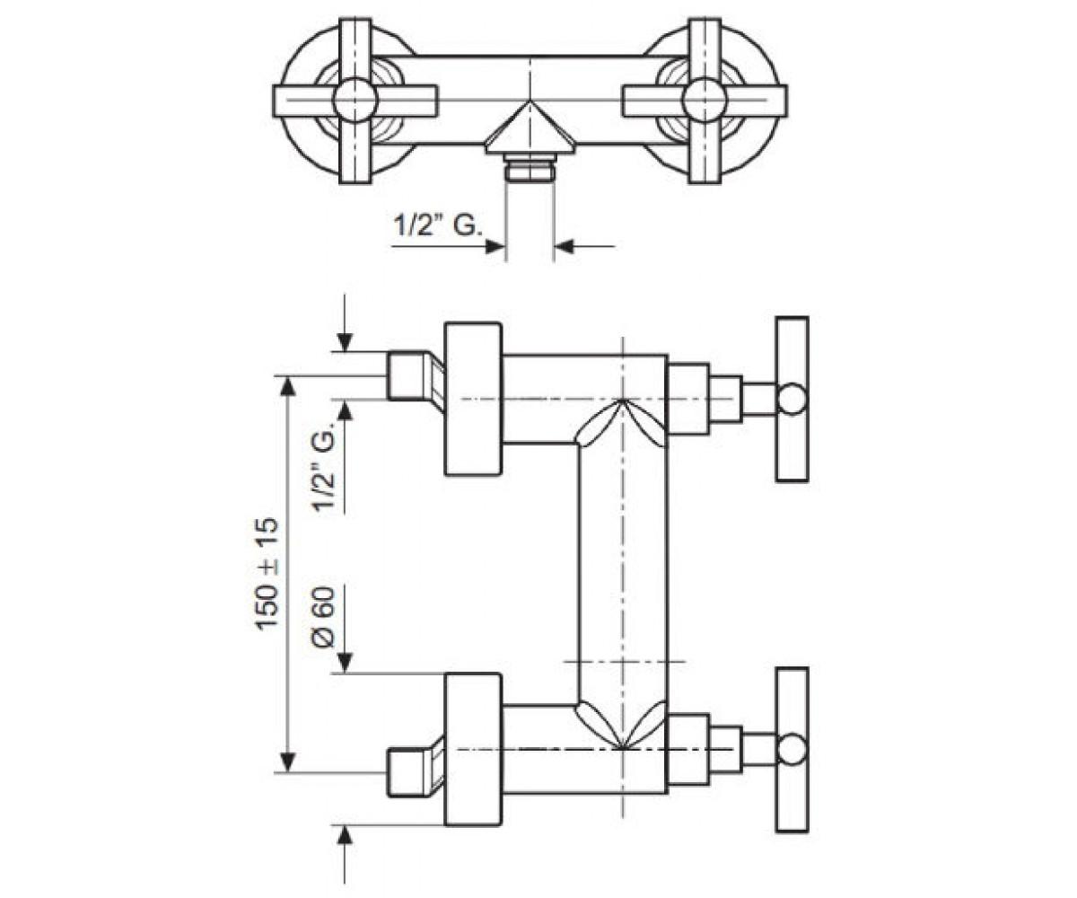 Смеситель для душа EMMEVI SPIRIT мат-хром SC31002V