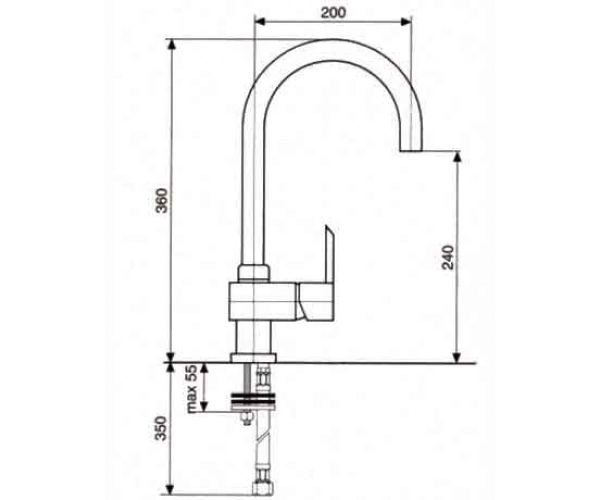 Смеситель для куxни EMMEVI SICILY сатин SC38089