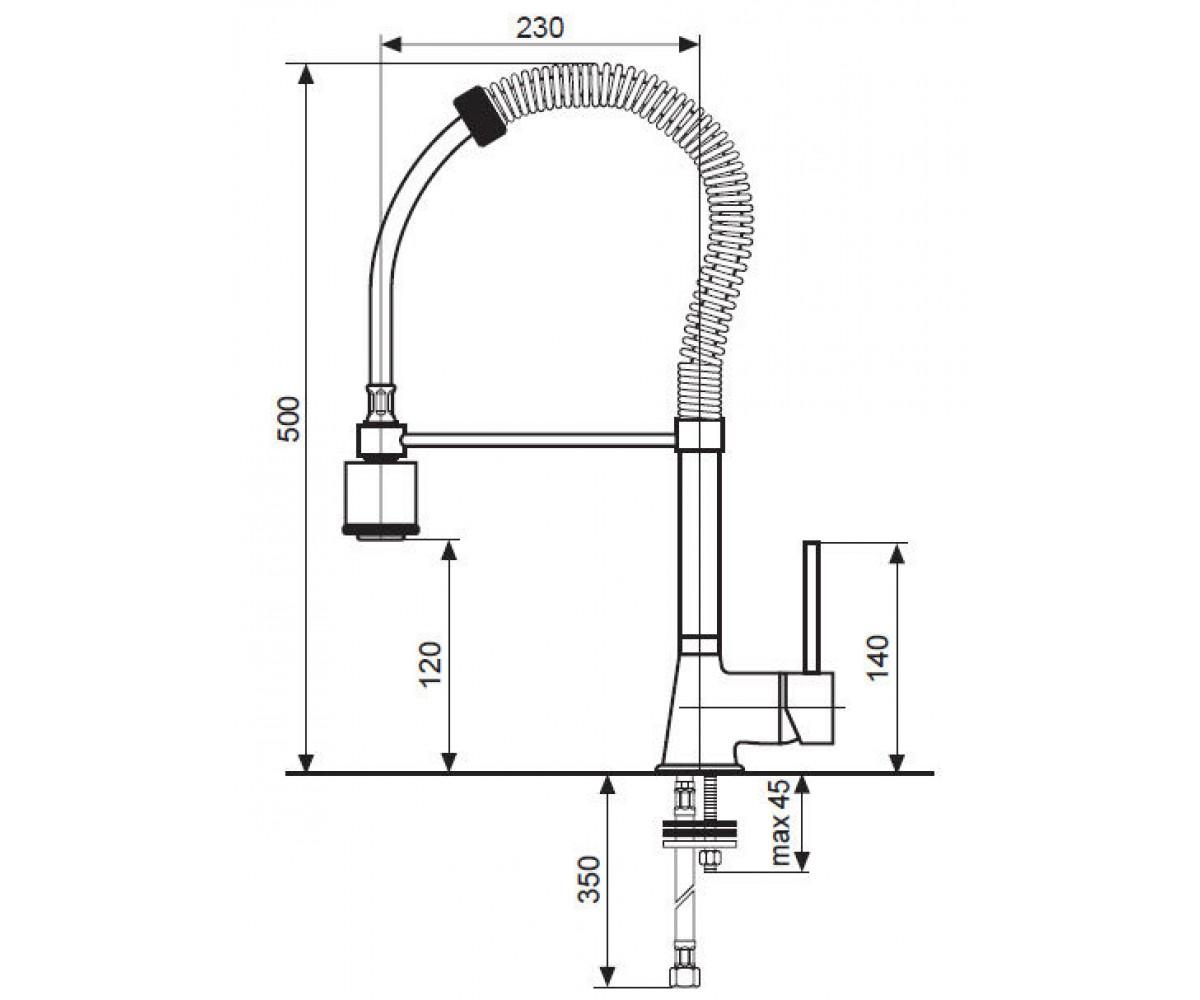 Кухонный смеситель EMMEVI PIPER CR45010