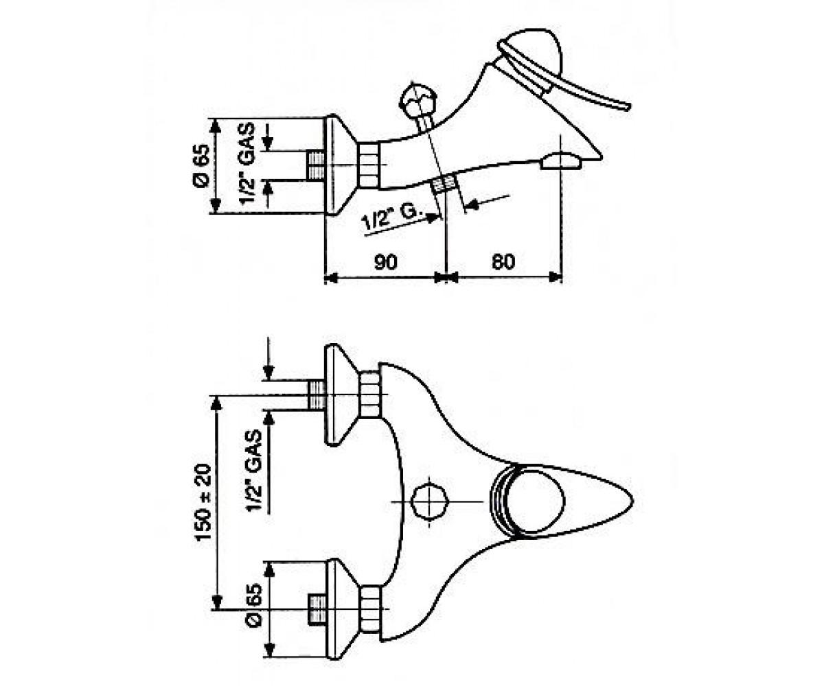Смеситель для ванны EMMEVI CHEOPE мат. хром SC5001