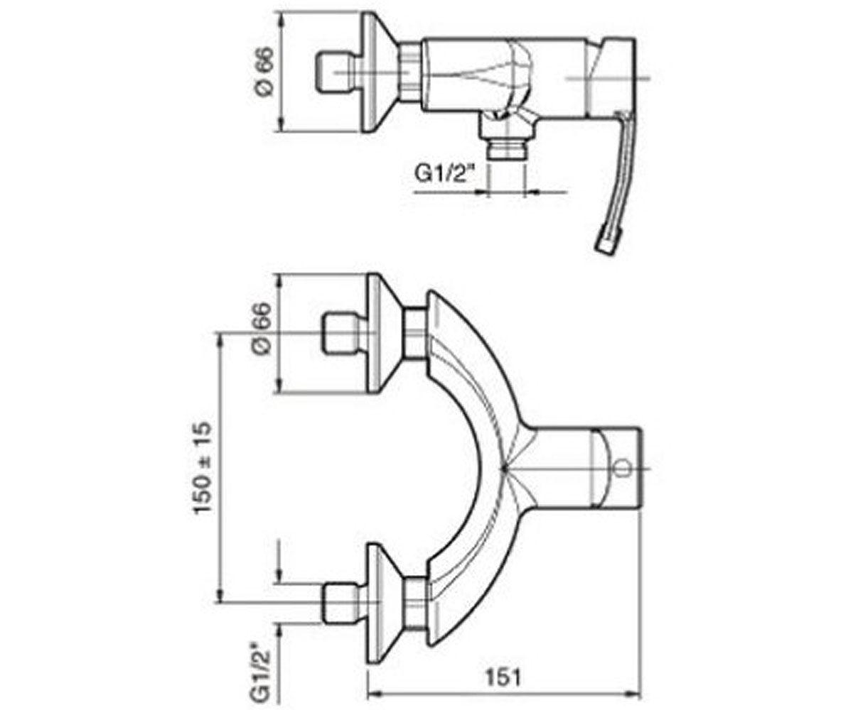 Смеситель для душа EMMEVI PLANET хром CR81002
