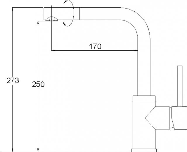 Кухонный смеситель AQUASanita силика 5553-111