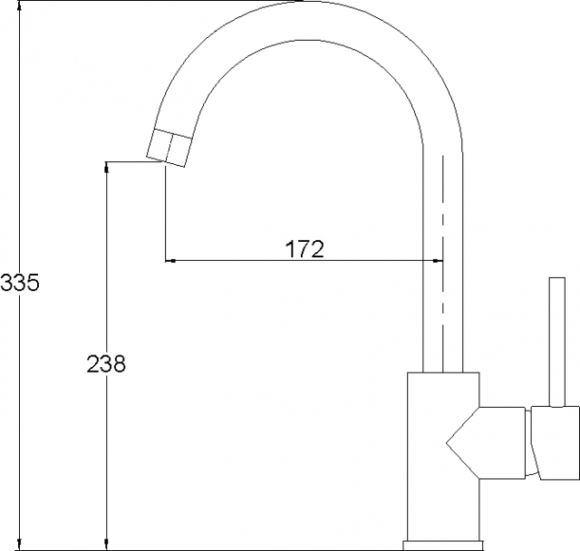 Кухонный смеситель AQUASanita медь 5523-501