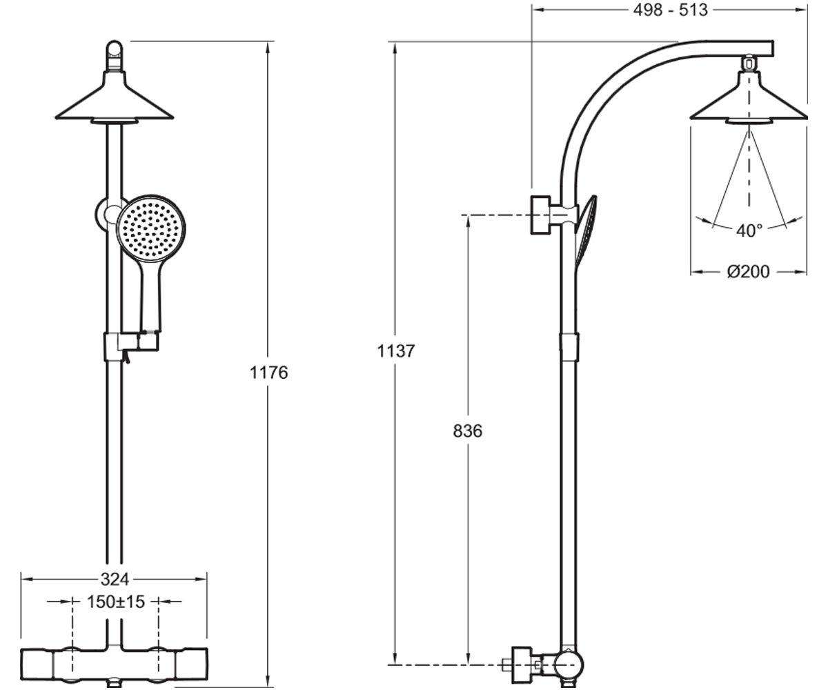 Душевая система JACOB DELAFON MOXIE E5799-CP