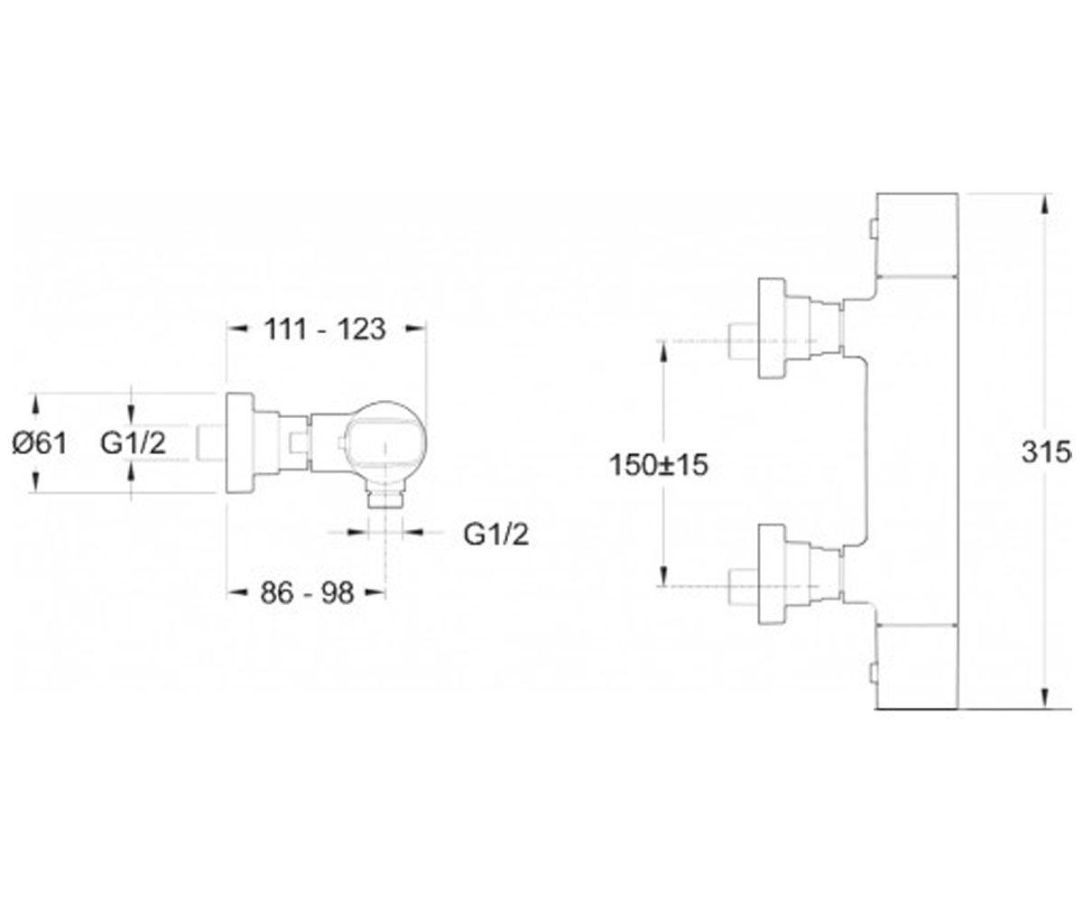 Термостат JACOB DELAFON ALEO E72352-CP