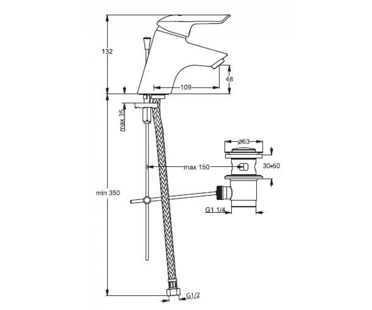 Смеситель для умывальника VIDIMA SEVA-II B7760AA