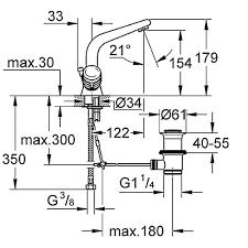 Смеситель для раковины GROHE SUPRA 21002000