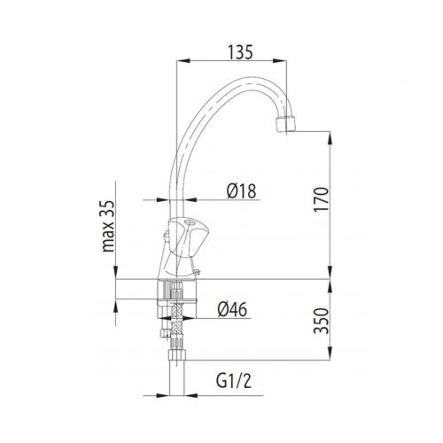 Смеситель для кухни KFA ARMATURA STANDART 302-314-00