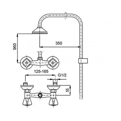 Душевая система KFA ARMATURA STANDART 306-710-00