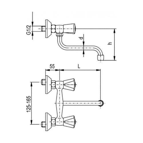 Смеситель для кухни KFA ARMATURA Ceramic 330-410-00