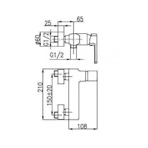 Смеситель для душa KFA ARMATURA KORUND 4006-010-00