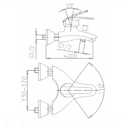 Смеситель для ванны KFA Armatura Rubin 564-010-00