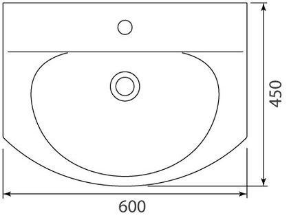 Умывальник мебельный Colombo Лотос 60 с отверстием (S14196000)