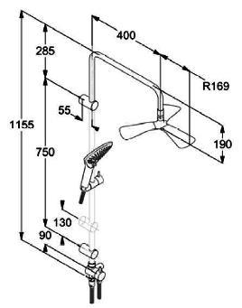 Душевой набор KLUDI Dual Shower System Fizz 6709305-00