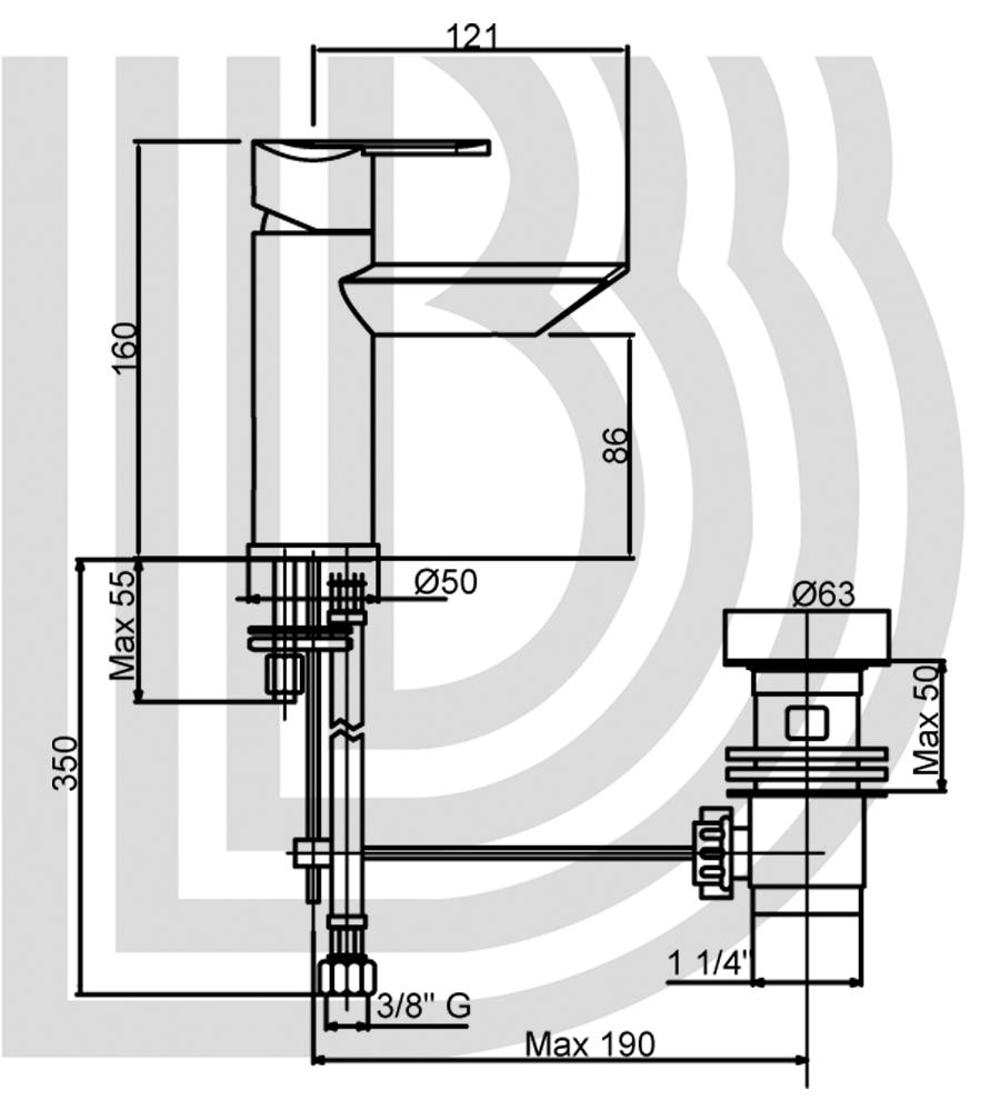 Смеситель для умывальника BIANCHI Dream LVBDRM 20020A BIO
