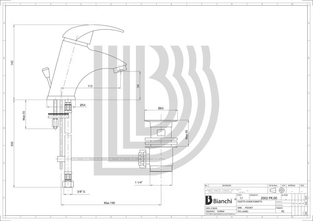 Смеситель для умывальника Bianchi POCKET CRM LVBPKT 2002SA CRM