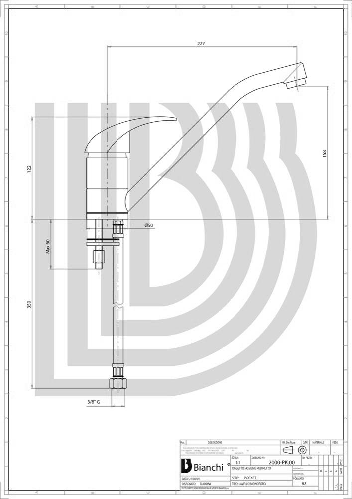 Смеситель для мойки POCKET CRM LVMPKT 20000A CRM