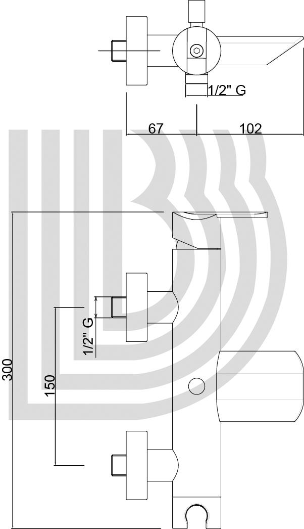 Смеситель для ванны BIANCHI Dream VSCDRM 200400 BIO