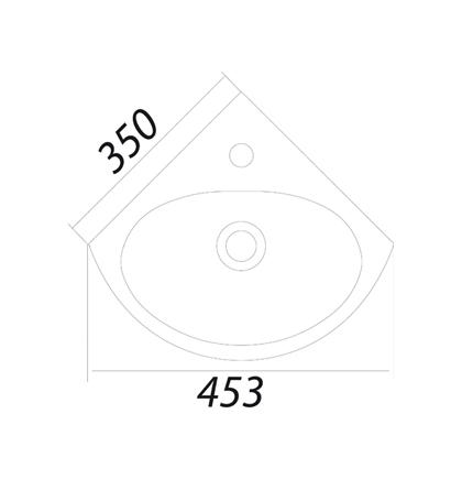 Умывальник Colombo Лотос 35 с отверстием S14273500