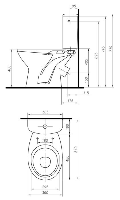 Комплект унитаз с бачком Colombo Фаворит Плюс 3/6 л (S26990500)