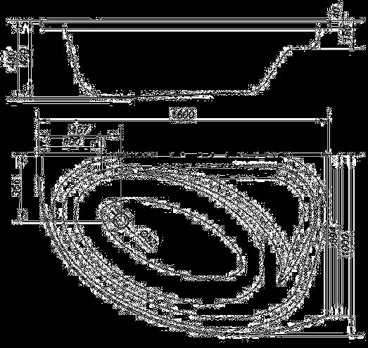 Ванна акриловая Cersanit Meza правая 160 S301-123