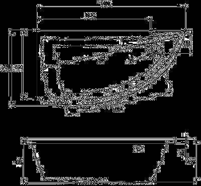 Ванна акриловая Cersanit Nano правая 150 S301-063