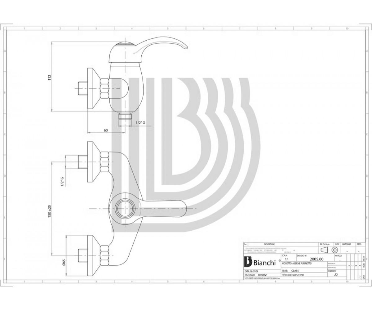 Смеситель для душа BIANCHI Class ESDCLS 2005SK VOT
