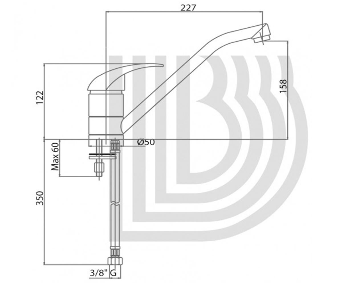 Смеситель для мойки POCKET LVMPKT 20000PA GBE