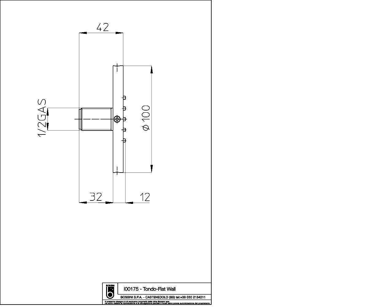 Боковая форсунка BOSSINI Tondo Flat — Wall I00175