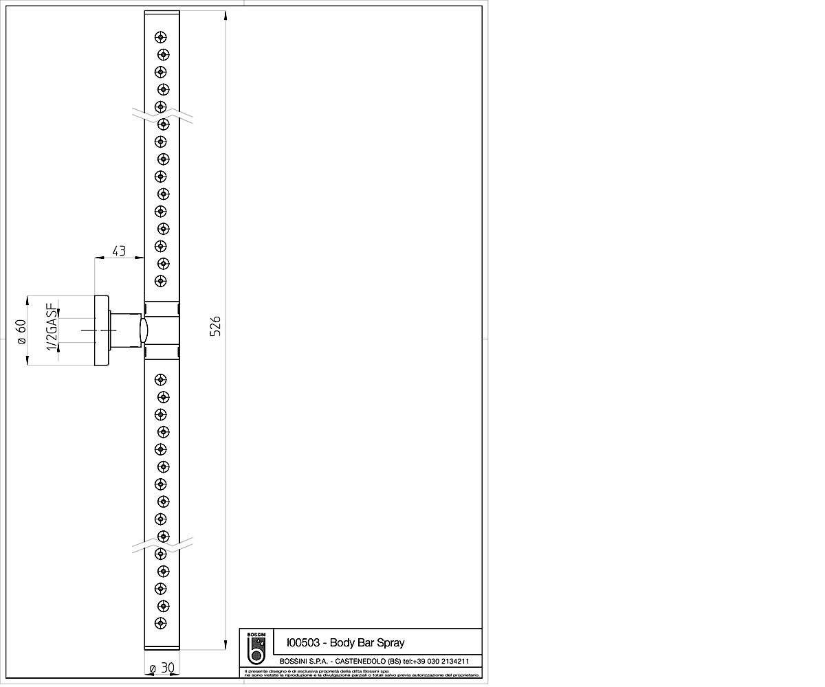 Боковая форсунка BOSSINI Body Bar Spray I00503