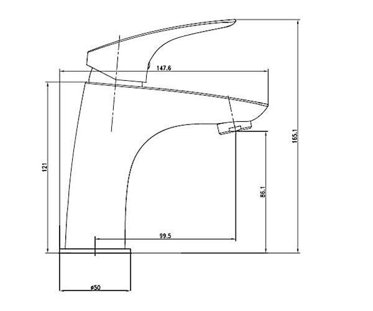 Смеситель для раковины DEANTE CYNIA BCY 021M