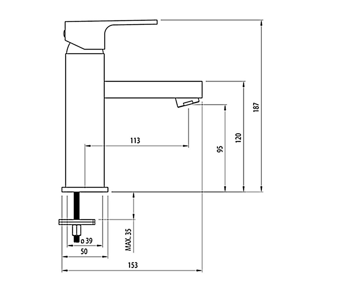 Смеситель для раковины DEANTE ANEMON BCZ 021M