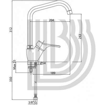 Смеситель для кухни BIANCHI DELTA LVMDLT 20140A CRM