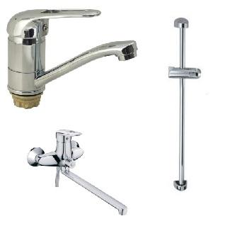 Набор смесителей для ванны Haiba Disk Standard