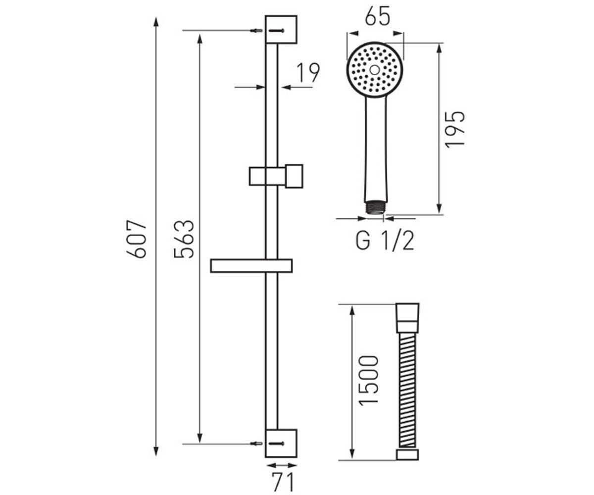 Душевой набор FERRO SIMPLA N120