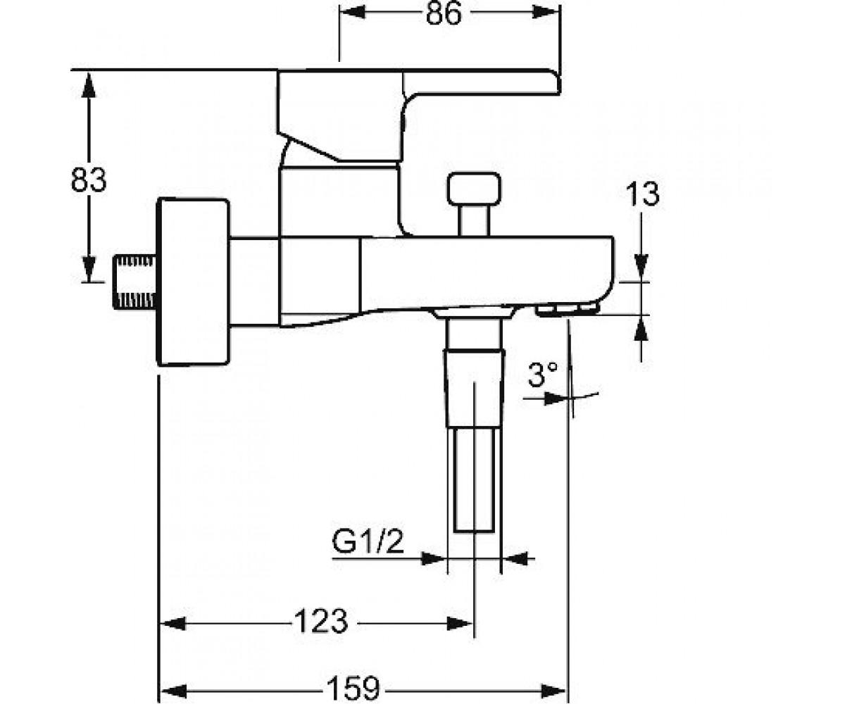Смеситель для ванны HANSA FORM 49742103