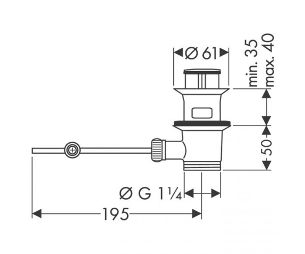 Донный клапан Hansgrohe 94139000