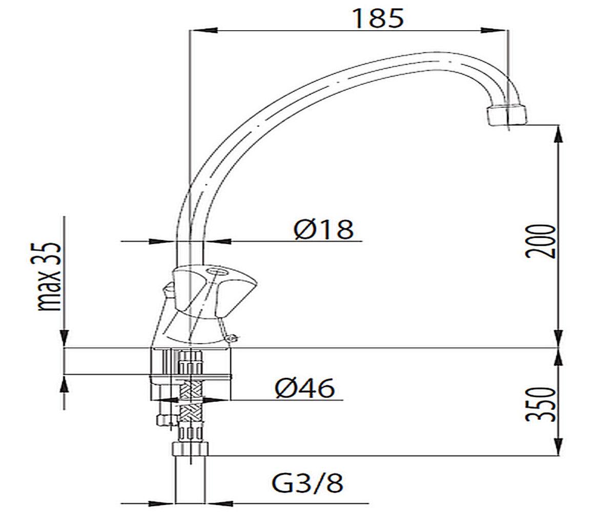 Кухонный смеситель KFA ARMATURA Standart 303-415-00