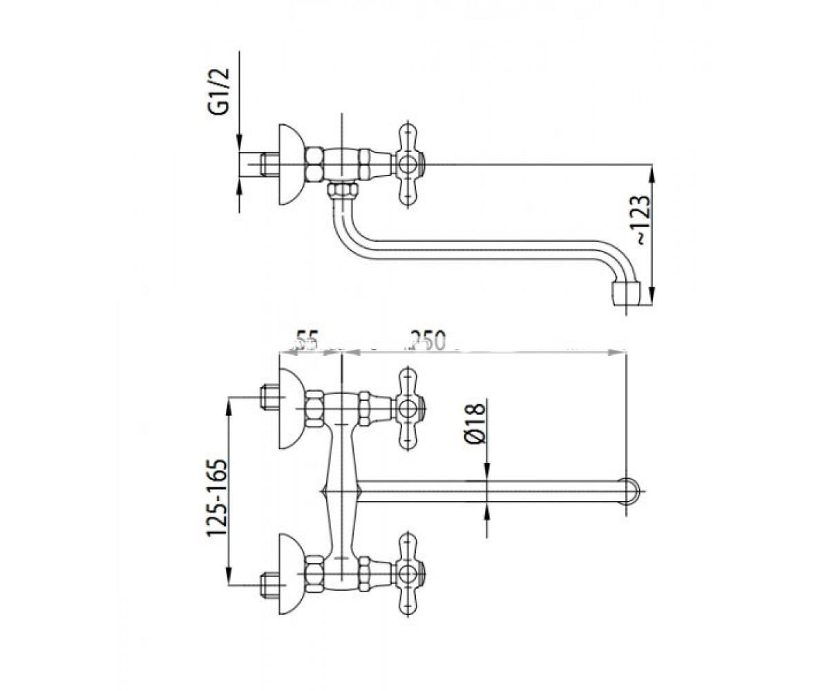 Смеситель для кухни KFA ARMATURA Retro 370-640-00