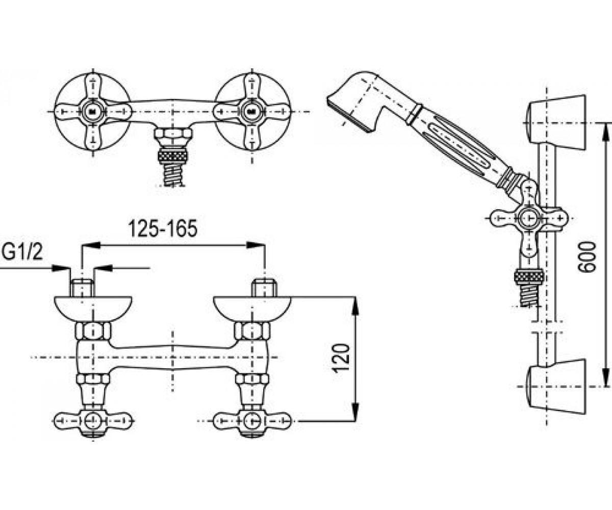 Смеситель для душa KFA ARMATURA RETRO 376-340-00