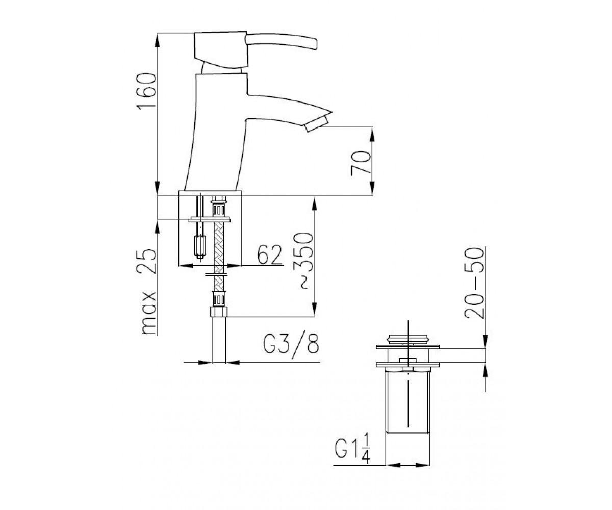 Смеситель для раковины KFA ARMATURA DIAMENT 4102-811-00