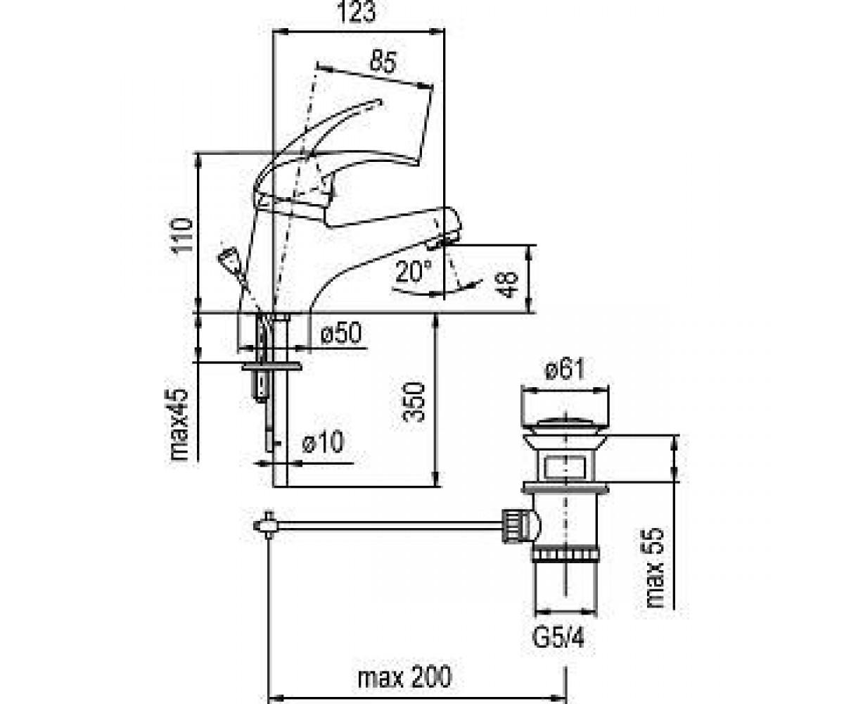 Смеситель для раковины KFA ARMATURA Nefryt 502-815-00