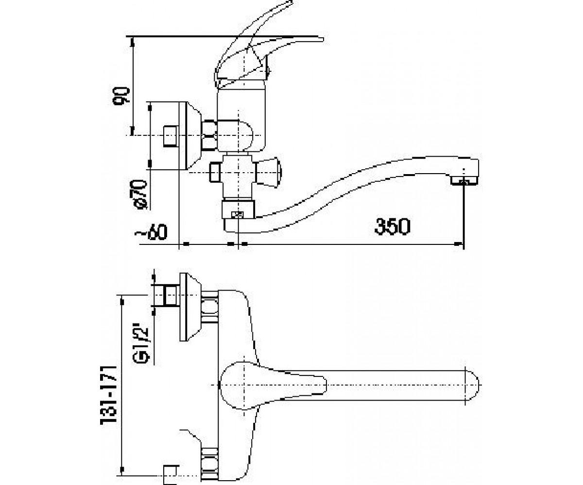 Смеситель для ванны KFA ARMATURA Nefryt 508-710-00