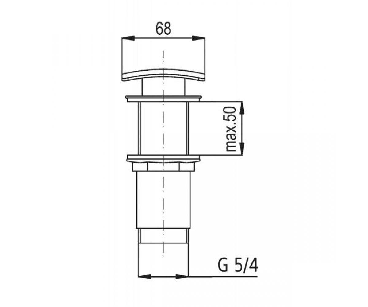 Донный клапан KFA ARMATURA 660-454-00