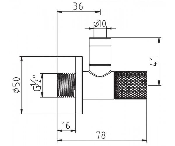 Вентиль угловой KLUDI MX 1584605-00